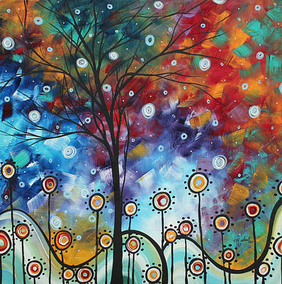 Abstract Tree Painting - Field Of Joy By Madart by Megan Duncanson