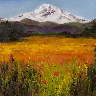 Mt. Bachelor Painting - Field Of Light by Bonnie Junell