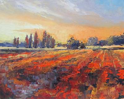 Painting - Field Of Light Oil Painting by Chris Hobel