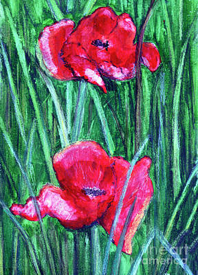 Remembrance Mixed Media - Field Of Memories. Two Of Many by Madeline Moore