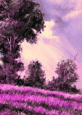 Painting - Field Of Pink Flowers by Hazel Holland