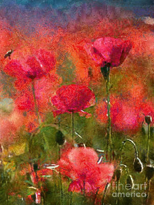 Photograph - Field Of Poppies by Scott B Bennett