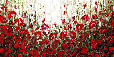 Poppies Painting - Field Of Poppies by Susanna Shap