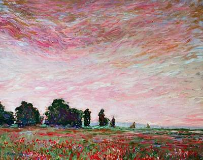 Painting - Field Of Red Poppies by J Michael Orr