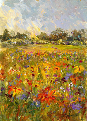 Painting - Field Of Sunshine by Laurie Samara-Schlageter