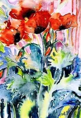 Field Poppies Art Print by Trudi Doyle