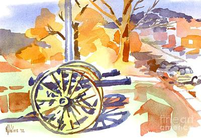 Field Rifles In Watercolor Original