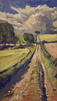 Painting - Field Road Near Elkenrade by Nop Briex