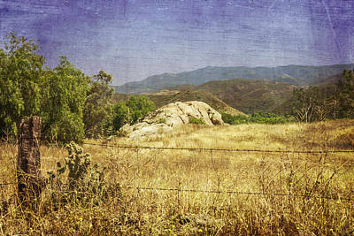 Photograph - Field View Of Mountains by Karen Stephenson