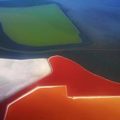 Birdseye Photograph - Fields by Alexander Fedin