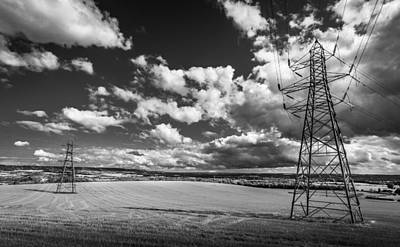 Photograph - Fields And Pylons by Gary Gillette
