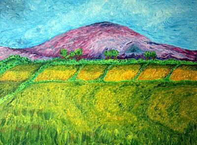 Paul Morgan Painting - Fields Around Knocklayde by Paul Morgan