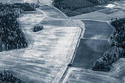 Photograph - Fields In Monochrome by Ari Salmela