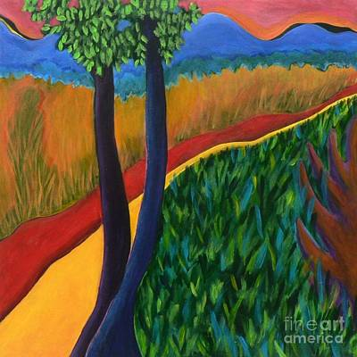 Art Print featuring the painting Fields Of Agave by Elizabeth Fontaine-Barr