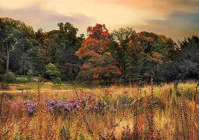 Field Digital Art - Fields Of Autumn by Jessica Jenney