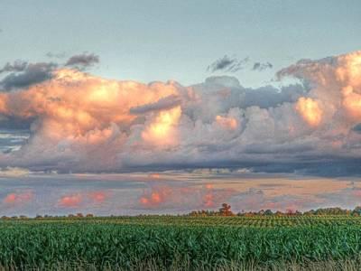 Rural Scene Photograph - Fields Of Corn by Heather Allen