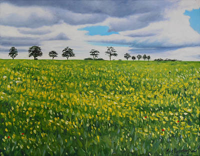 Malmo Painting - Fields Of Eslov by Sue Birkenshaw