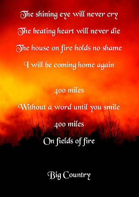 Photograph - Fields Of Fire by Guy Pettingell