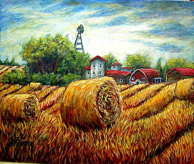 Painting - Fields Of Hay by Sebastian Pierre