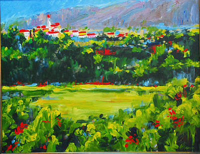Painting - Fields Of Monticristello Italy by Michael Tieman