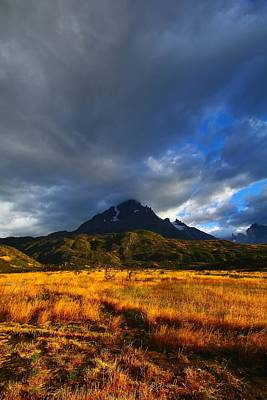 Grey Clouds Photograph - Fields Of Patagonia 2 by FireFlux Studios