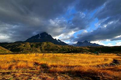 Grey Clouds Photograph - Fields Of Patagonia by FireFlux Studios