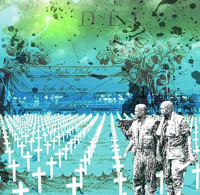 Fields Of Peace Art Print by Diskrid Art