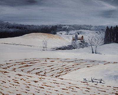 Painting - Fields Of White by Monica Veraguth