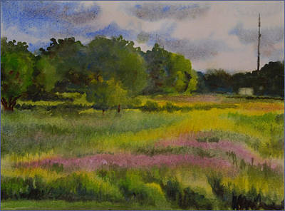 Wet Into Wet Watercolor Painting - Fields Of Wild Flowers by Heidi E  Nelson