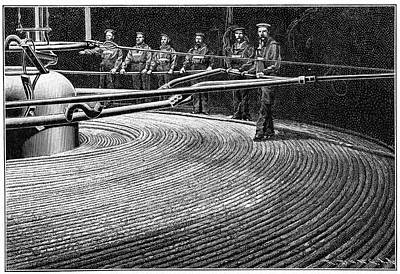 Field's Trans-atlantic Cable Art Print by Cci Archives