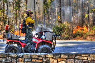 Photograph - Fire Fighters004 by Donald Williams