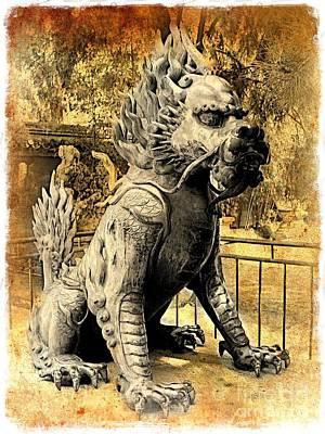 Photograph - Fierce Foo Dog - Old World by Carol Groenen