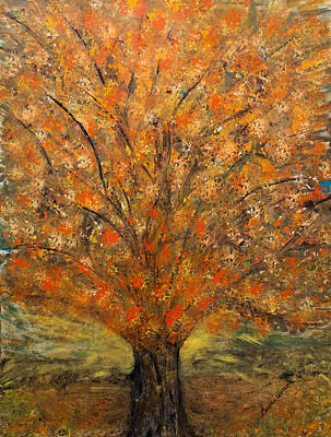 Painting - Fiery Autumn by Susan Abrams