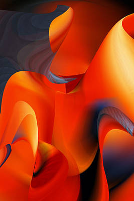 Digital Art - Fiery Color For Iphone Art by rd Erickson
