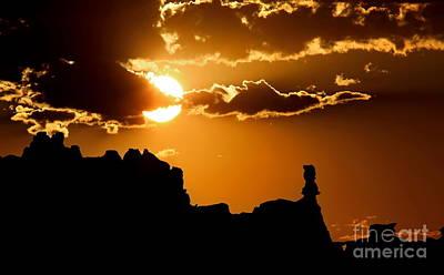 Fiery Desert Sky Art Print