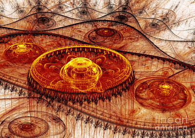 Steampunk Royalty-Free and Rights-Managed Images - Fiery fantasy landscape by Martin Capek