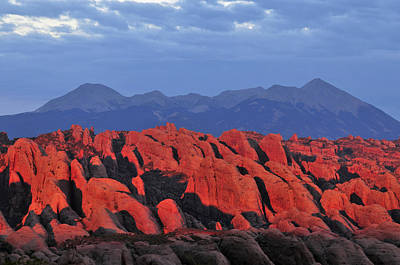 Behind The Rocks Photograph - Fiery Fins by Joseph Rossbach