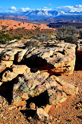 Photograph - Fiery Furnace And The La Sals by Ray Mathis