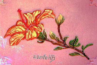 Sculpture - Fiery Hibiscus by Alberto H-B