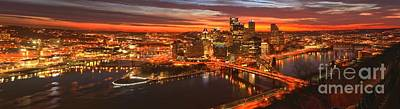 Photograph - Fiery Pittsburgh Sunrise by Adam Jewell