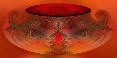 Digital Art - Fiery Pot - Abstract by rd Erickson