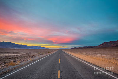 Photograph - Fiery Road Though The Valley Of Death by Mark Robert Rogers