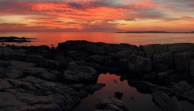 Photograph - Fiery Schoodic Sunrise by Mike Farslow