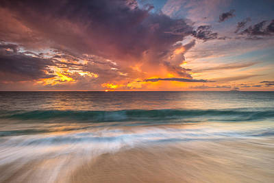 Photograph - Fiery Skies Azure Waters Rendezvous by Photography  By Sai