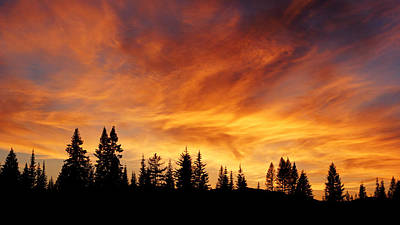 Photograph - Fiery Sky At Sunset by Daniel Woodrum