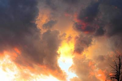 Photograph - Fiery Sky by Marilyn Burton