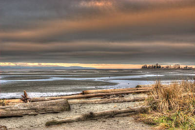 Photograph - Fiery Sky Over The Salish Sea by Randy Hall