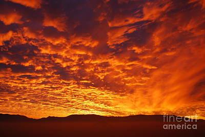 Fiery Sky Art Print by Susan Hernandez
