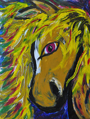 Forelock Painting - Fiery Steed by JAMART Photography