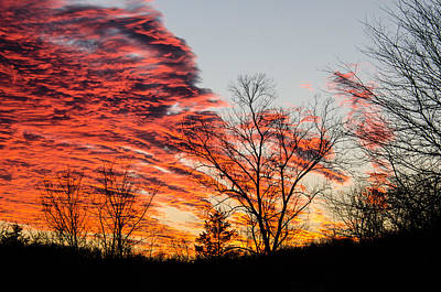 Photograph - Fiery Sundown by Linda Shannon Morgan
